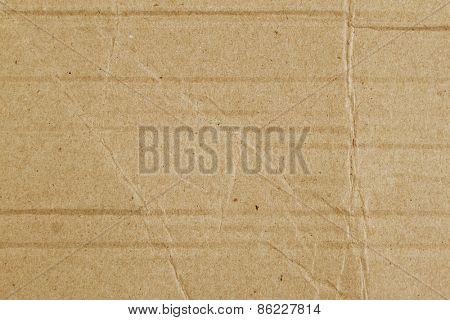 Closeup of wrinkled cardboard texture