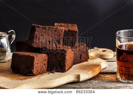 Chocolate Brownie With Dark Beer