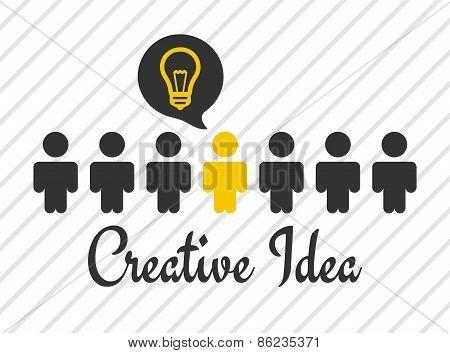 'creative Idea' Vector Poster