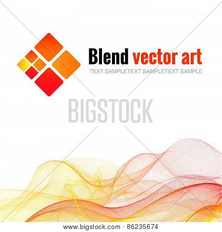 Blend wave and trapezoid Shades of yellow, orange