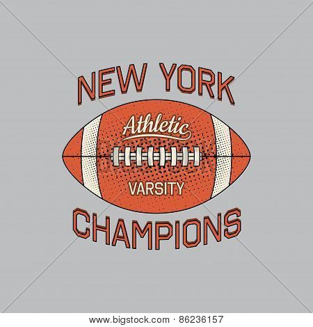Stamp Of New York Champions Of Sport Typography