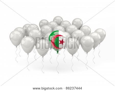 Air Balloons With Flag Of Algeria