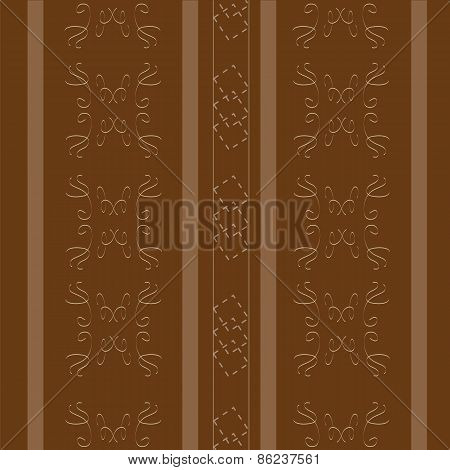 Elegant Brown With Stripes