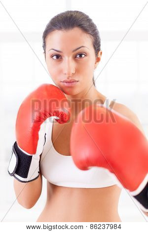 Woman Boxing.