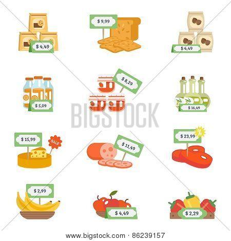 Supermarket Icons Set