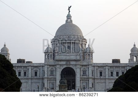 KOLKATA,INDIA - FEBRUARY 10: Victoria Memorial building in Kolkata, West Bengal, India on February 10,2014.