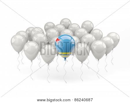 Air Balloons With Flag Of Aruba