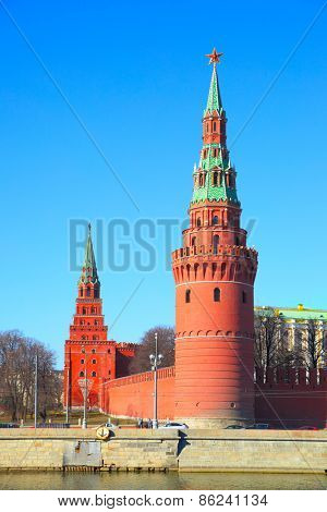 Towers of the Moscow Kremlin, Russia