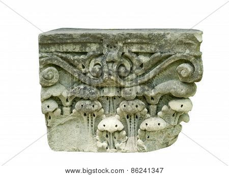 Old weathered stone carving