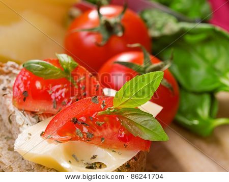 Emmental Cheese With Tomatos