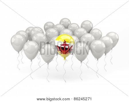 Air Balloons With Flag Of Brunei