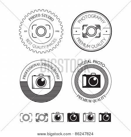 Set Of Photo Logos, Labels, Badges And Design Elements