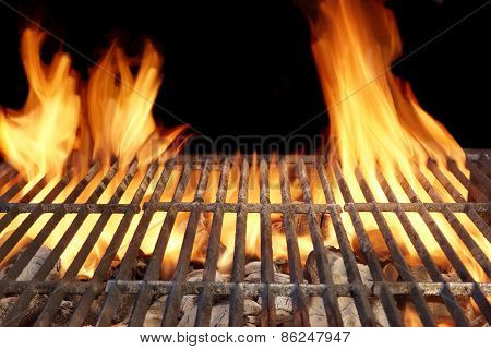 Flame Fire Empty Barbecue Grill