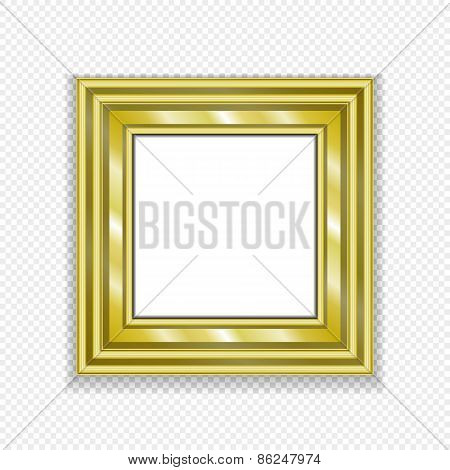 Gold Vintage Frame. Decorative Vector  Picture