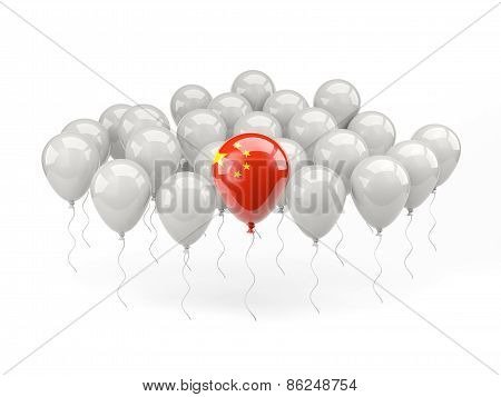 Air Balloons With Flag Of China