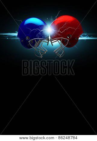American Football Helmet Background