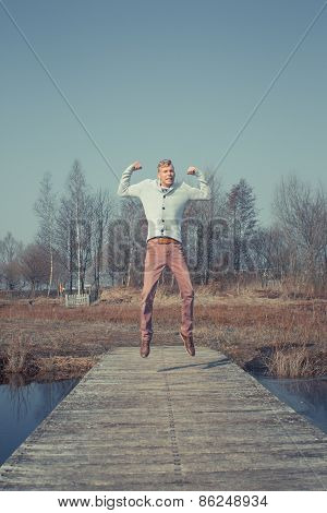 Jumping person