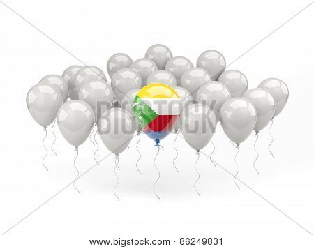 Air Balloons With Flag Of Comoros