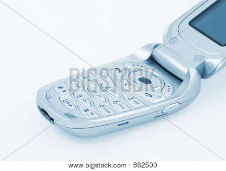 phone keypad in blue