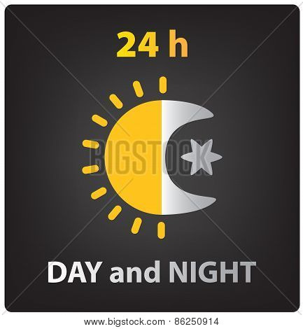vector day and night icon