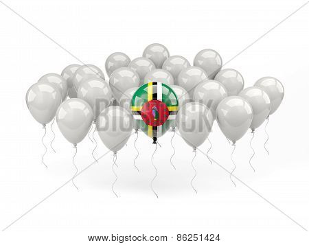 Air Balloons With Flag Of Dominica