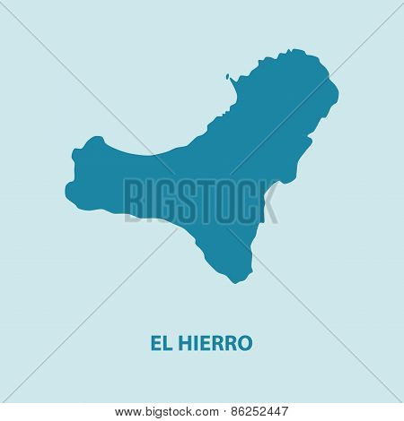 El Hierro Map Vector Very Detailed