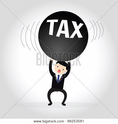 Businessman Tax Concept.