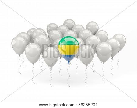 Air Balloons With Flag Of Gabon