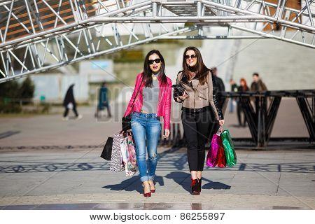 Shopping Women Outdoors