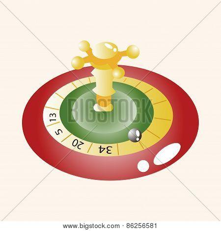 Casino Roulette Theme Elements