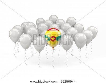 Air Balloons With Flag Of Grenada
