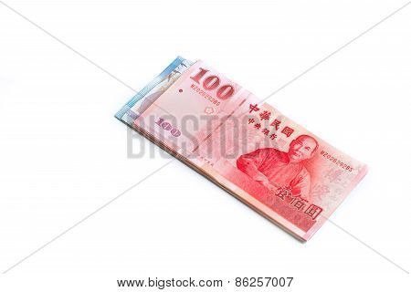 New Taiwan Dollar Cash Isolated