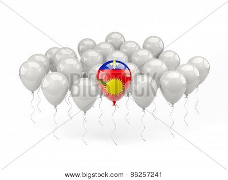 Air Balloons With Flag Of Guadeloupe