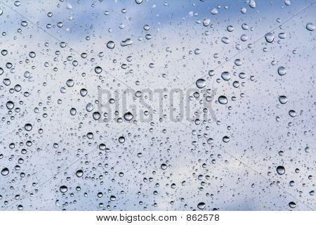 gotas de agua en tonos azules