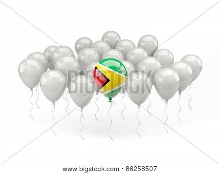 Air Balloons With Flag Of Guyana