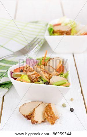 A fresh chicken salad