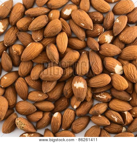 Almond covered surface background