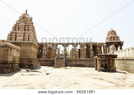 The unfinished Kalyana mandapa in Veerabhadra temple captured at Lepakshi, Andhra Pradesh, India