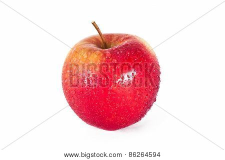 Red Apple With A Drops