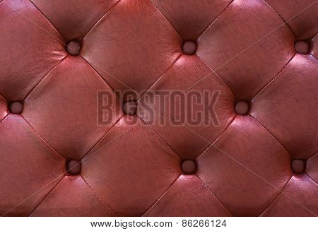 Red leather texture as background