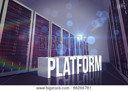 platform against server hallway