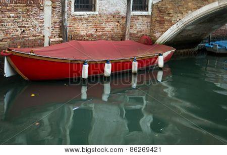 moored boat venice