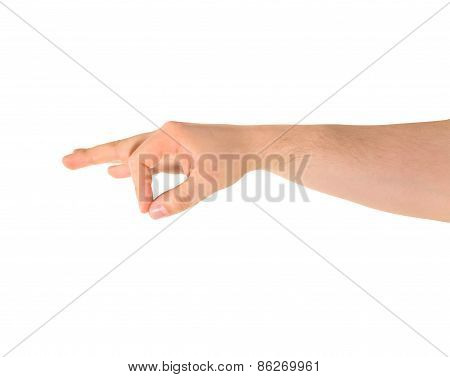 Giving hand gesture isolated