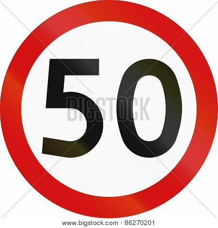 Speed Limit 50 In Poland