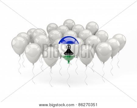 Air Balloons With Flag Of Lesotho