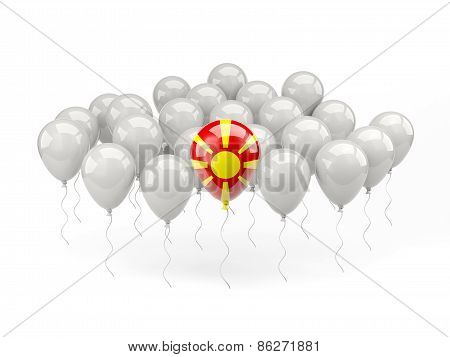 Air Balloons With Flag Of Macedonia