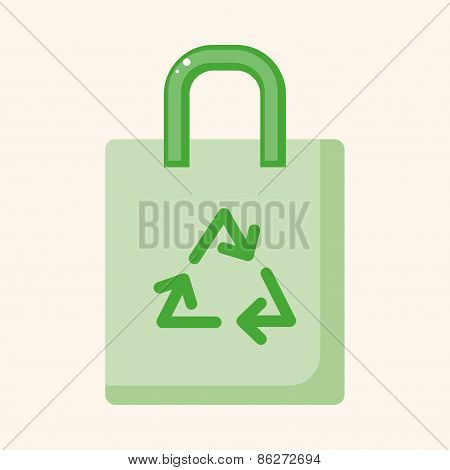 Environmental Protection Concept Theme Elements; Recycled Shopping Bag