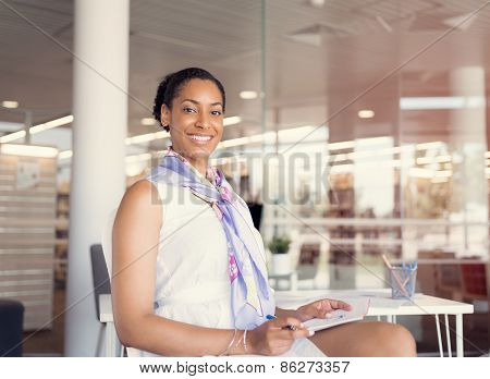 Young woman in an office