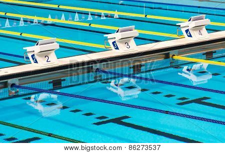 Olympic Sport Competition Swimming Pool Lanes