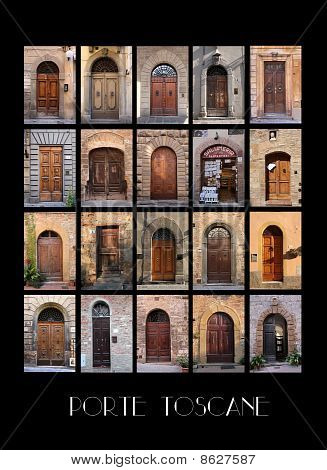 Variaty Of Old Tuscan Doors